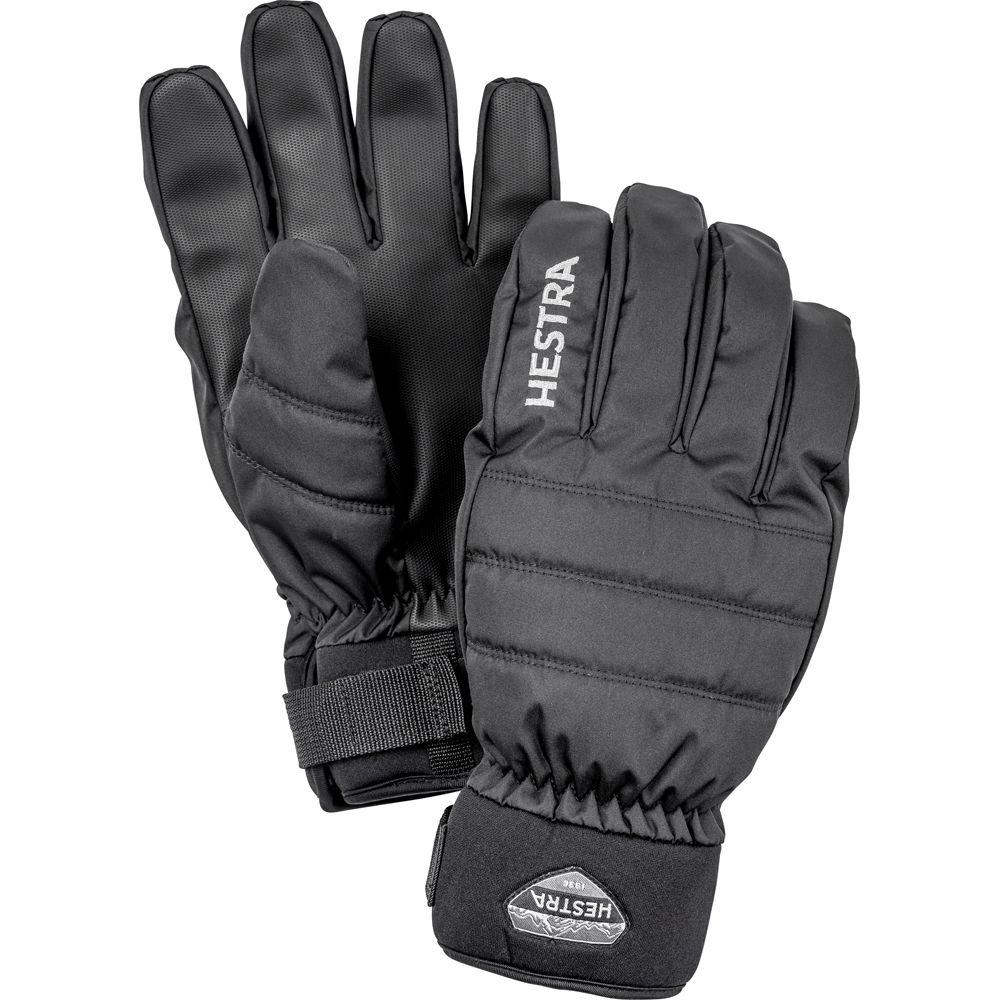 Hestra Boge Czone 5 Finger Adult Ski Gloves - Black