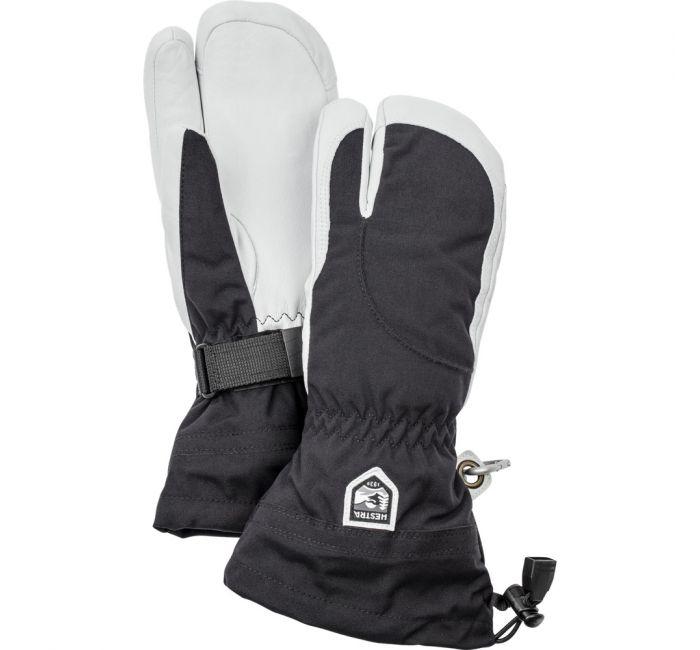 Hestra Heli Female Ski 3 Finger Ski Gloves - Black