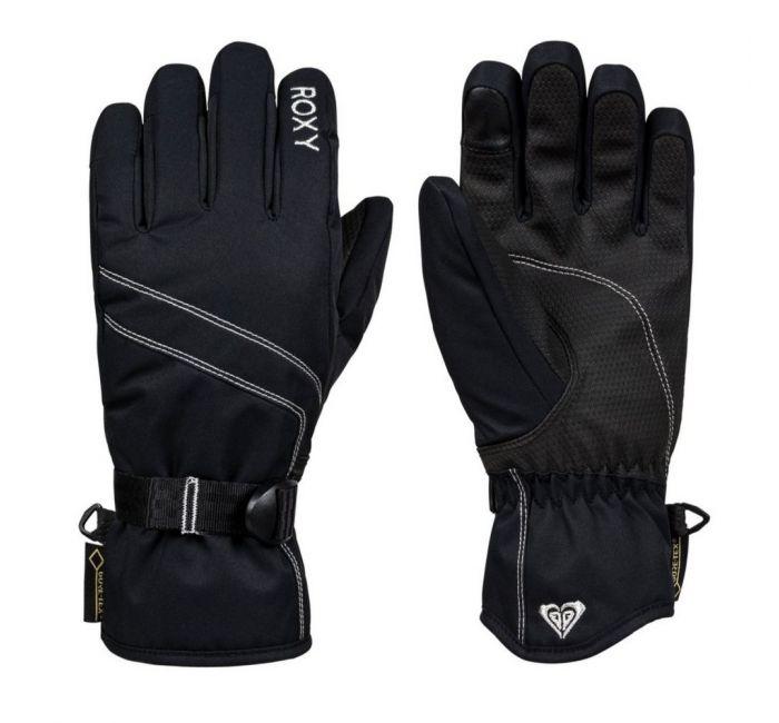 Roxy Gore-Tex Womens Ski Gloves, Black