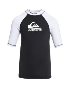 Quiksilver On Tour Boy SS Rash Tee - Black & White