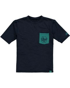 O'Neill Skins S/S Pocket Cruz Kids UV Rash Tee - Ink Blue