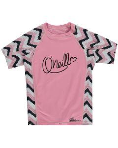 O'Neill Skins S/S Zuma UV Protection Girls Rash Tee, Pink - save 40%