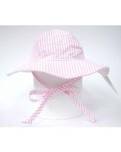 Flap Happy Floppy Hat, Pink Stripe