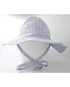 Flap Happy Floppy Hat, Chambray Stripe