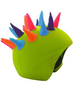 Cool Casc Show Time Helmet Cover, Neon Horns