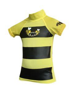 TWF Baby S/Sleeve Rash Vest Bumblebee Yellow - save 20%