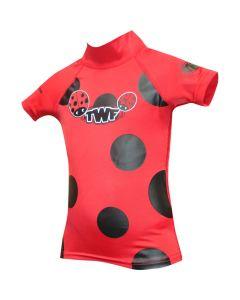 TWF Baby S/Sleeve Rash Vest Ladybird Red - save 20%