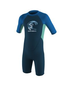 O'Neill Reactor 2mm Shortie Wetsuit - Slate / Light Aqua / Ocean