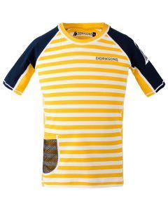 Didriksons Surf Kids SS UV Top Yellow Simple Stripe
