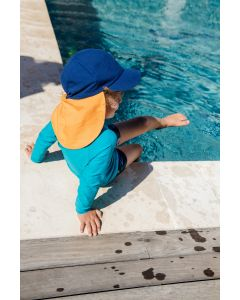 Reima Tropisk Kids Sun Hat - Blue