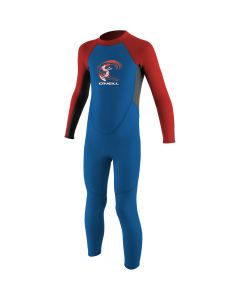 O'Neill Reactor Full Kids Wetsuit, Ocean/Graphite/Red - save 50%