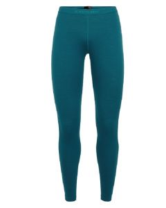 Icebreaker Oasis Bodyfit Womens Thermal Leggings - Kingfisher
