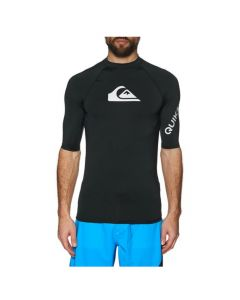 Quiksilver All Time Short Sleeve Mens Rash Vest - Black
