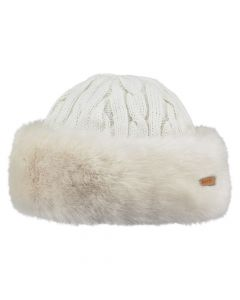 Barts Faux Fur Cable Bandhat white One Size