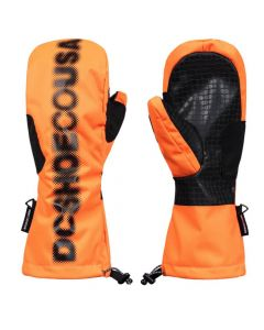 DC Headline Ski Mittens, Shocking Orange