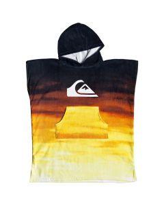 Quiksilver Kids Hoody Beach Towel / Poncho - Tiger Orange