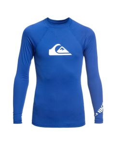 Quiksilver All Time Boy LS Rash Vest - Electric Blue
