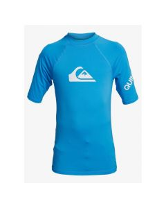 Quiksilver All Time SS Youth Boys UV Rash Vest - Blue