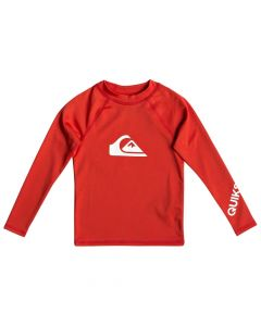 Quiksilver All Time Kid LS Rash Vest - Red