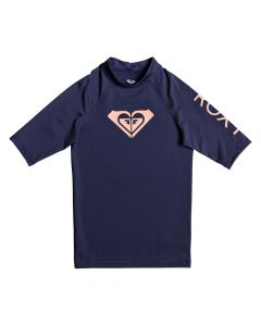 Roxy Wholehearted S/S Rash Tee - Medieval Blue Age 9-16