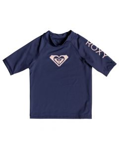 Roxy Wholehearted S/S Rash Tee - Medieval Blue Age 2-6