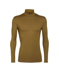 Icebreaker Mens Bodyfit 260 Tech LS Merino Thermal Crewe - Curry