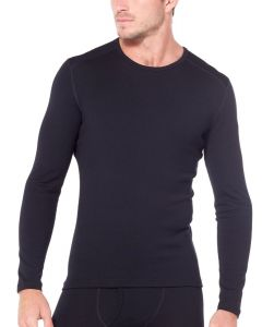 Icebreaker Mens Bodyfit 260 Tech LS Thermal Crewe - Black