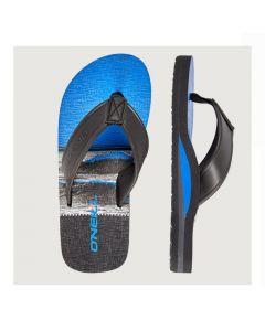O'Neill Arch Print Sandals - Black AOP W/Blue
