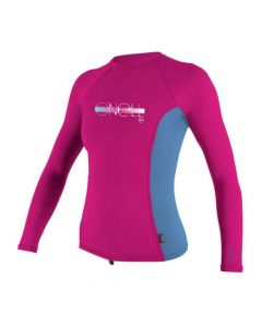 O'Neill Girls Premium Skins L/S Rash Guard - Berry/Periwinkle