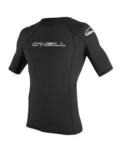 O'Neill Mens Basic Skins Short Sleeve Sun Shirt - Black