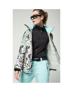 O'Neill UK womens ski jackets, Wavelite Pink AOP