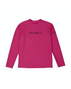 O'Neill Youth Basic Skins L/S Tee - Watermelon with Black Logo