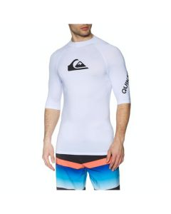 Quiksilver All Time Short Sleeve Mens Rash Vest - White