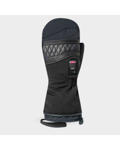 Racer Unisex Heated Ski Mittens - Black