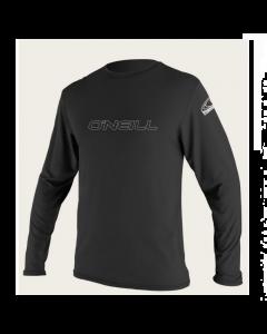 O'Neill Mens Basic Skins Long Sleeve Sun Shirt - Black