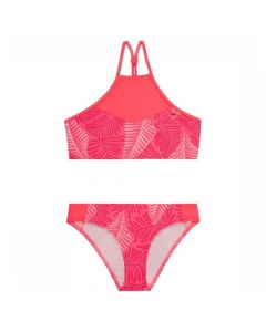 O'Neill PG High Neck Bikini Perform Girls - Pink AOP