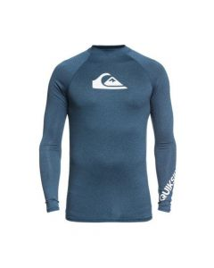 Quiksilver All Time Long Sleeve Mens Rash Vest - Blue Heather