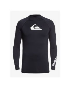 Quiksilver All Time Long Sleeve Mens Rash Vest - Black