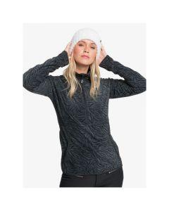 Roxy Cascade Fleece - True Black Zebra Print