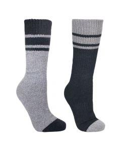 Trespass Hitched Anti Blister Twinpack Socks - Size Adult UK 4-7