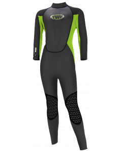 TWF XT3 Kids Full Wetsuit, Green - save 25%