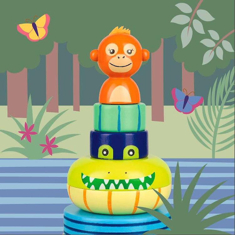 Orange Tree Toys - FSC Certified Jungle Animals Stacking Ring